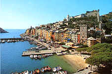 Portovenere: the port and the Mediaeval Castle
